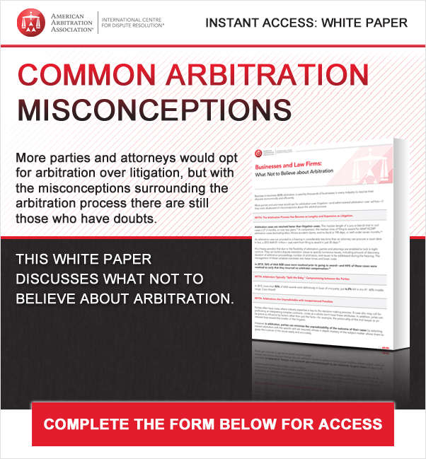 Common Arbitration Misconceptions