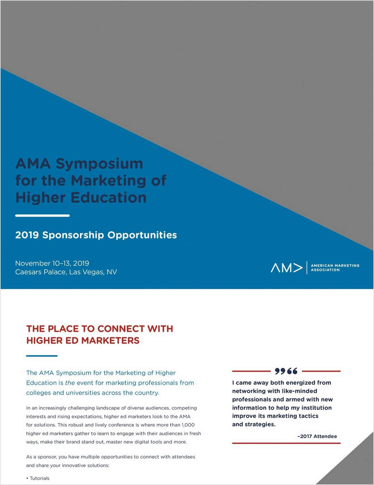 2019 Symposium for the Marketing of Higher Education Prospectus