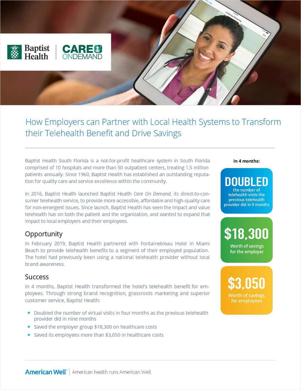 How Employers Can Partner with Local Health Systems to Transform their Telehealth Benefit and Drive Savings