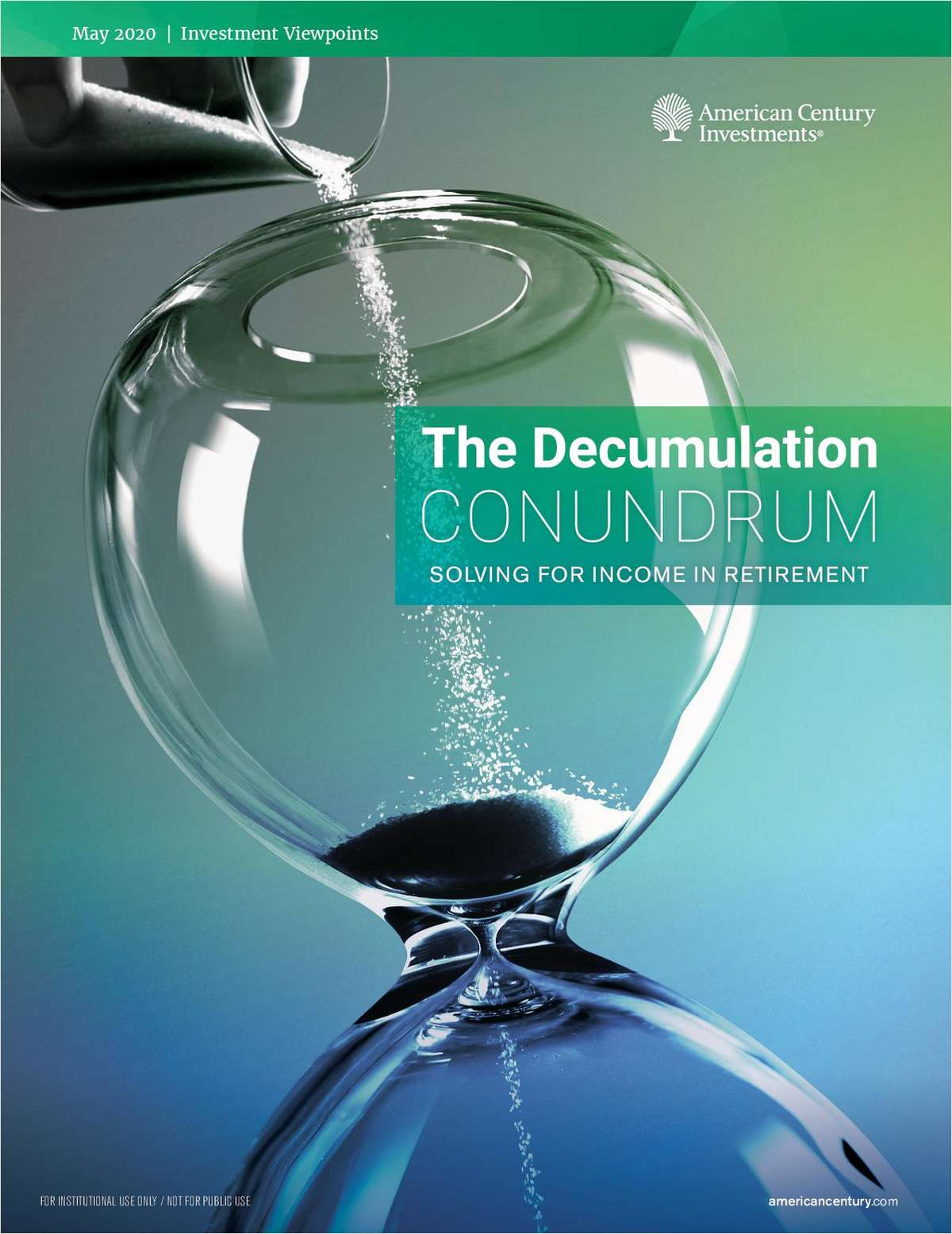 The Decumulation Conundrum: Solving for Income in Retirement