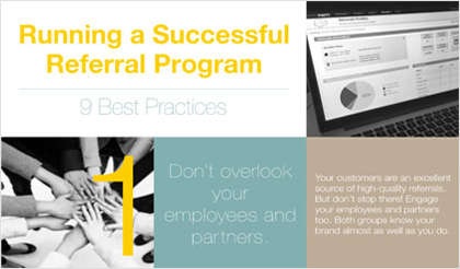 9 Best Practices for Running a Referral Program Infographic