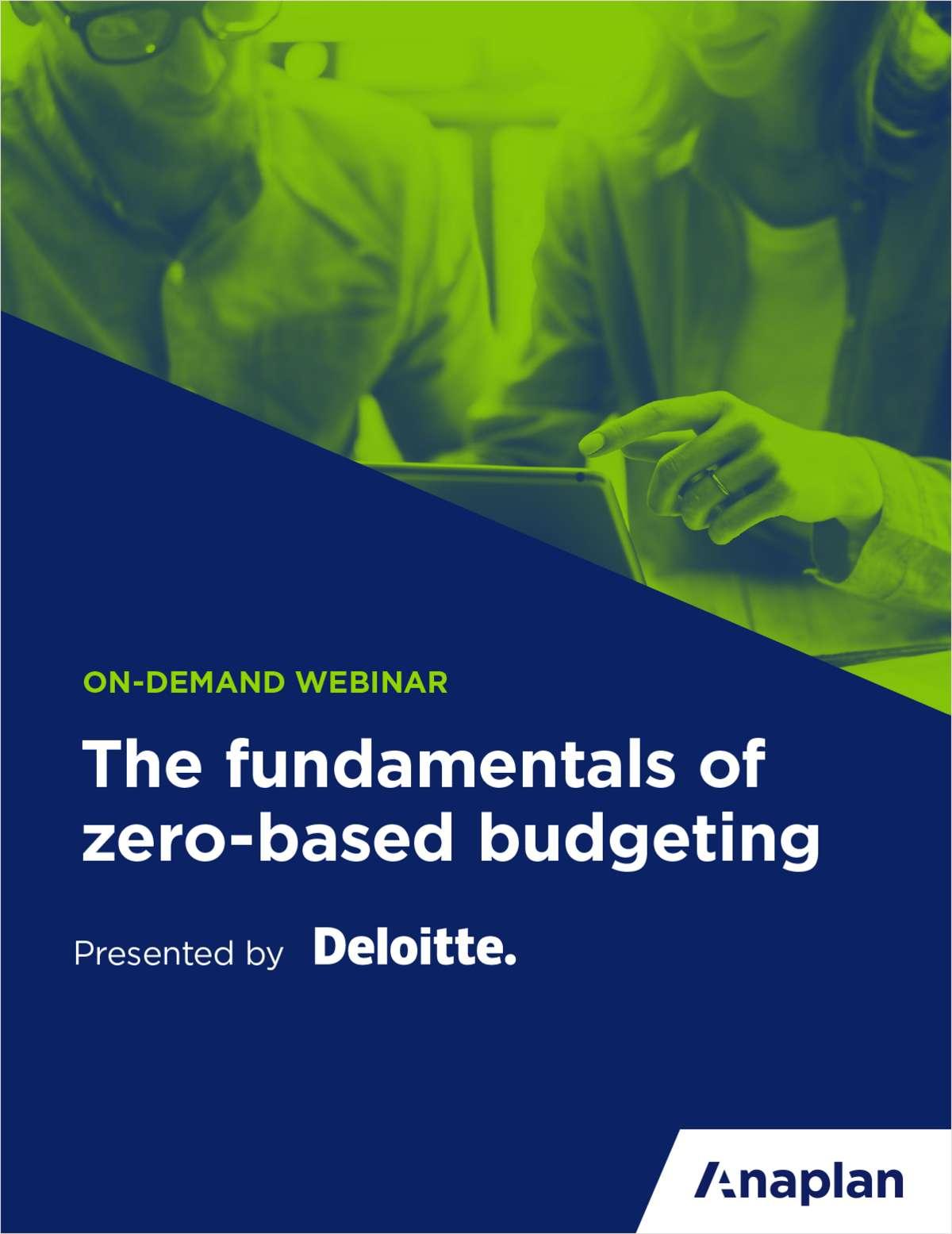 The Fundamentals of Zero-Based Budgeting