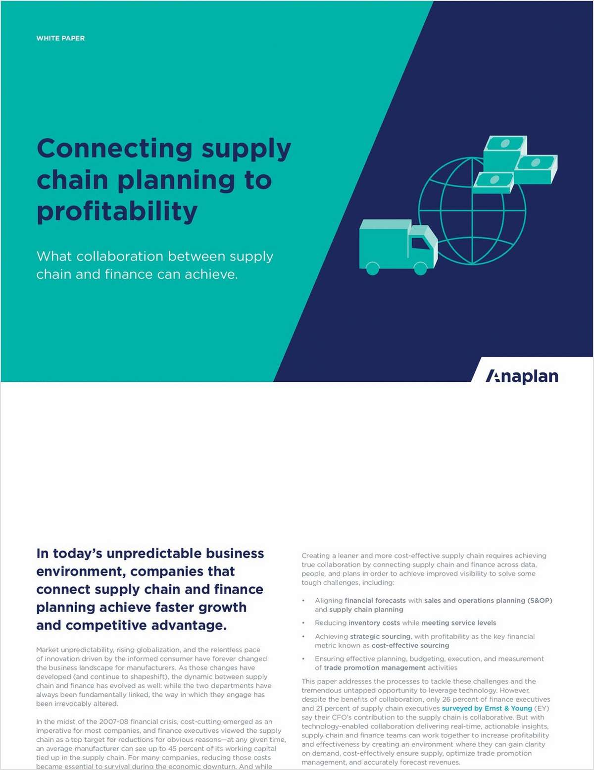 Connecting Supply Chain Planning to Profitability