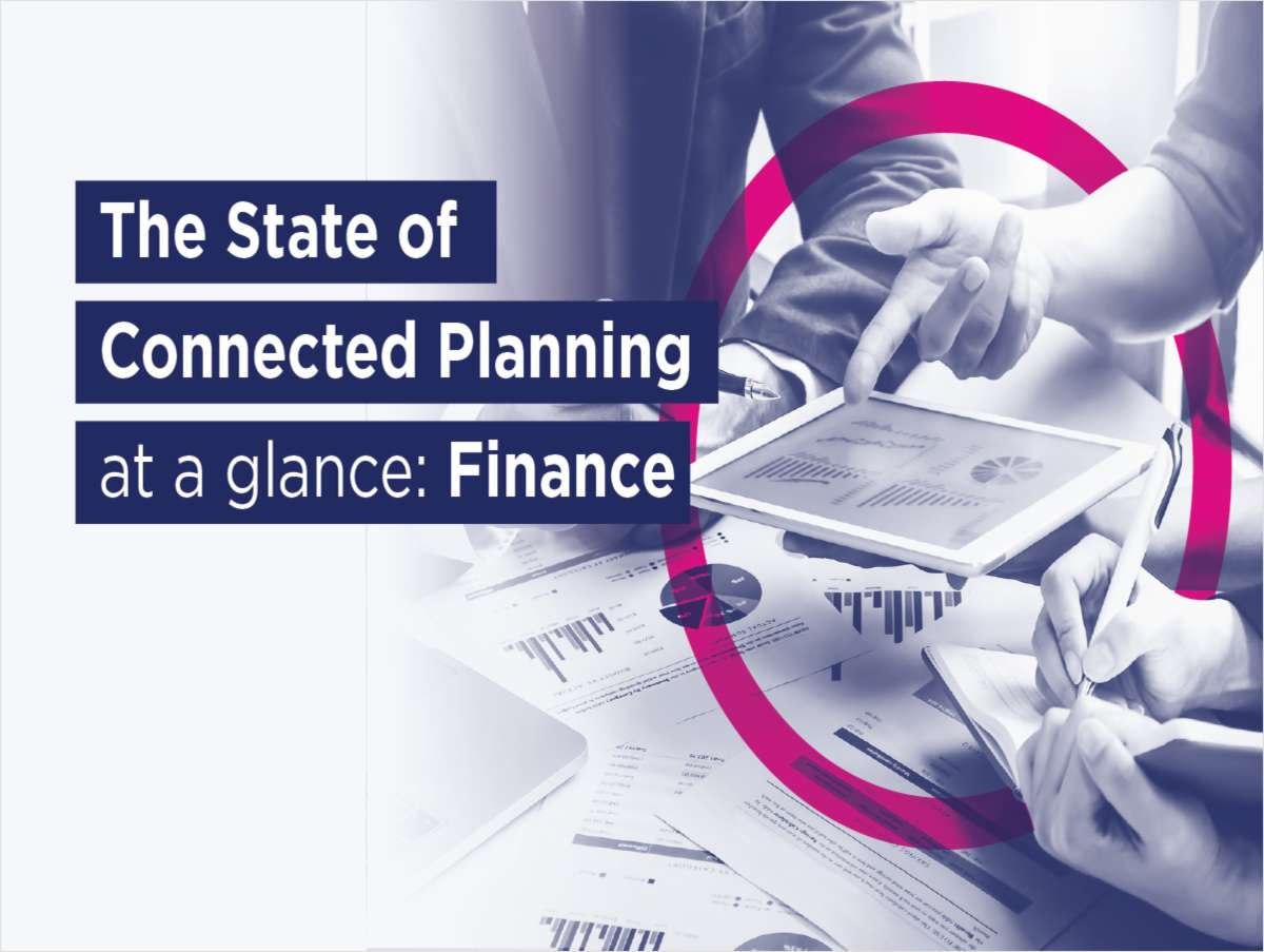 State of Connected Planning: Finance