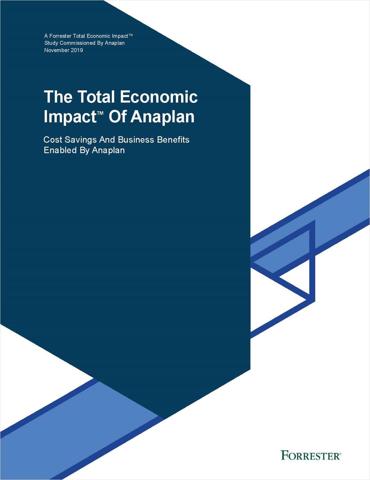 The Total Economic Impact of Anaplan