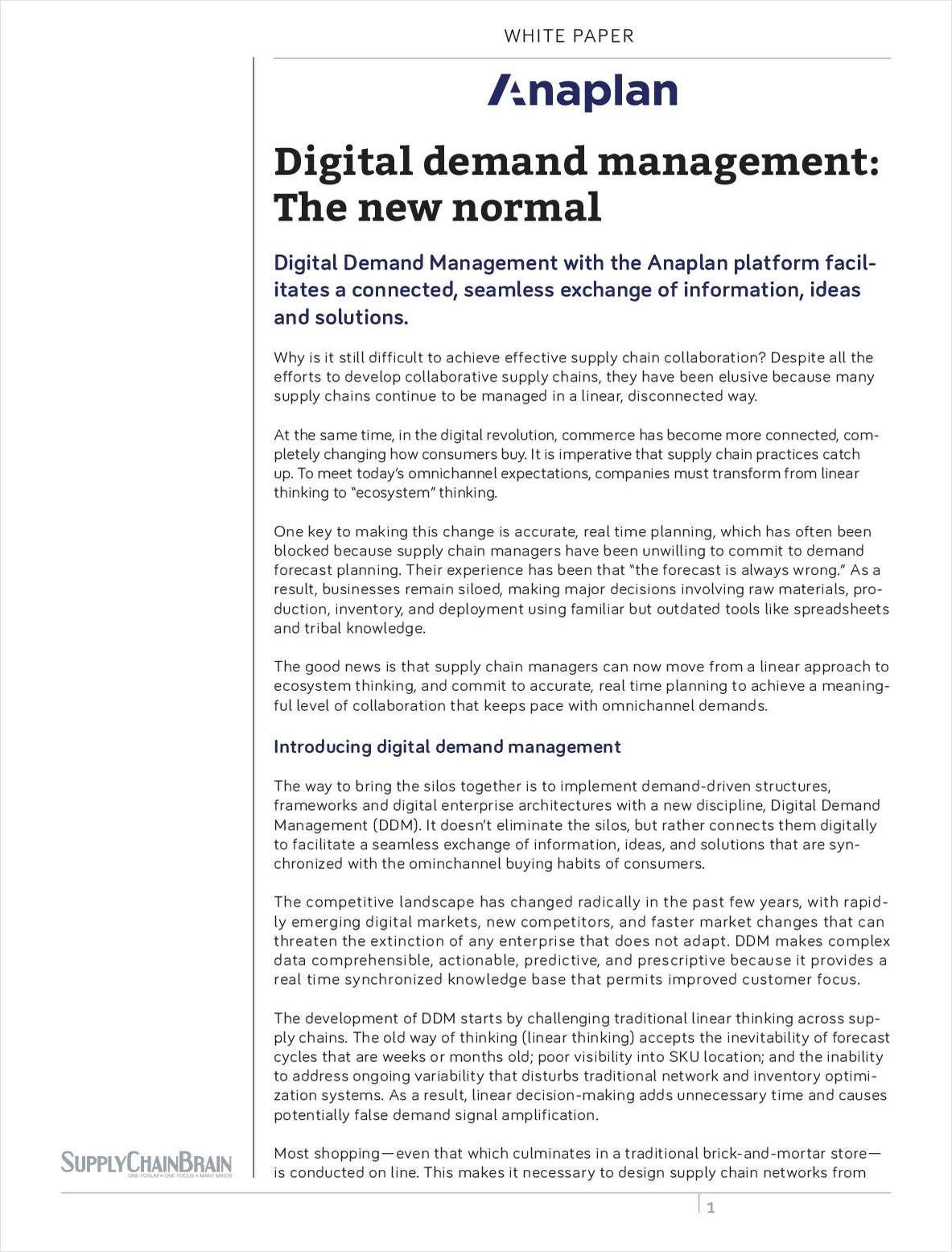 Digital Demand Management: The New Normal