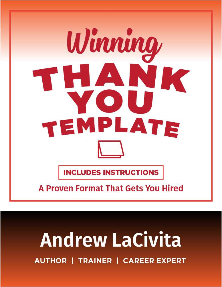 The Winning Thank You Template
