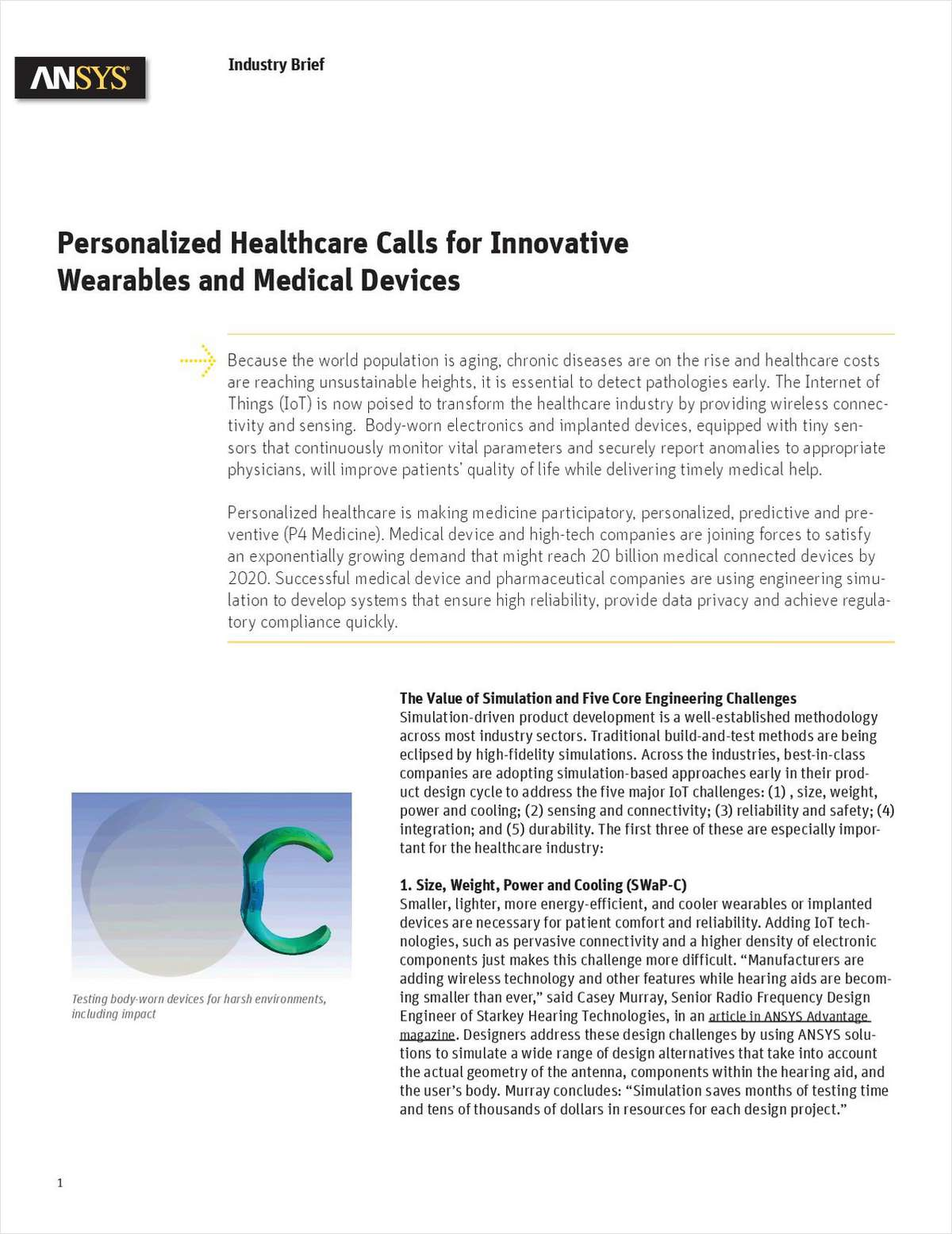 Personalized Healthcare Calls for Innovative Wearables and Medical Devices