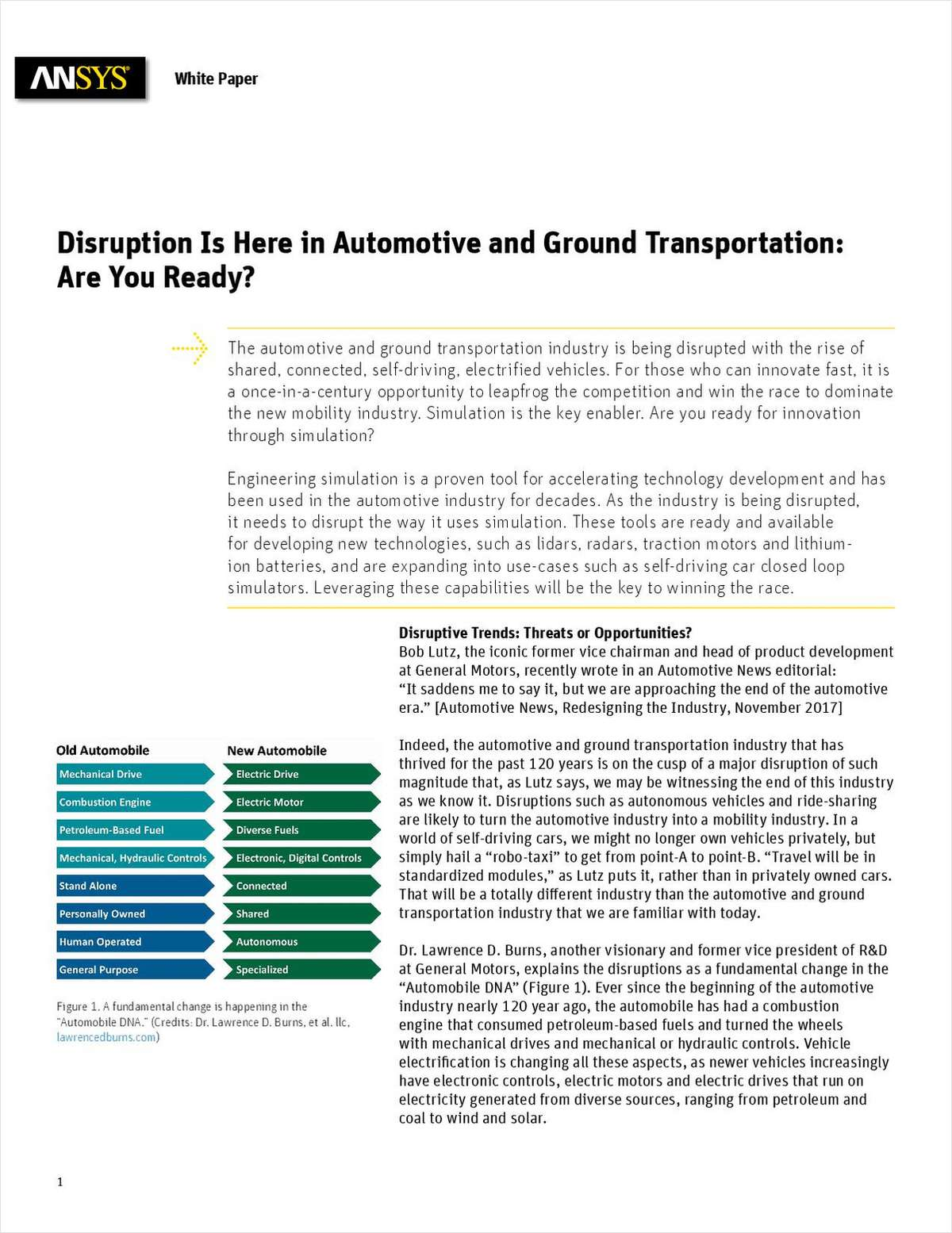 Disruption Is Here in Automotive and Ground Transportation