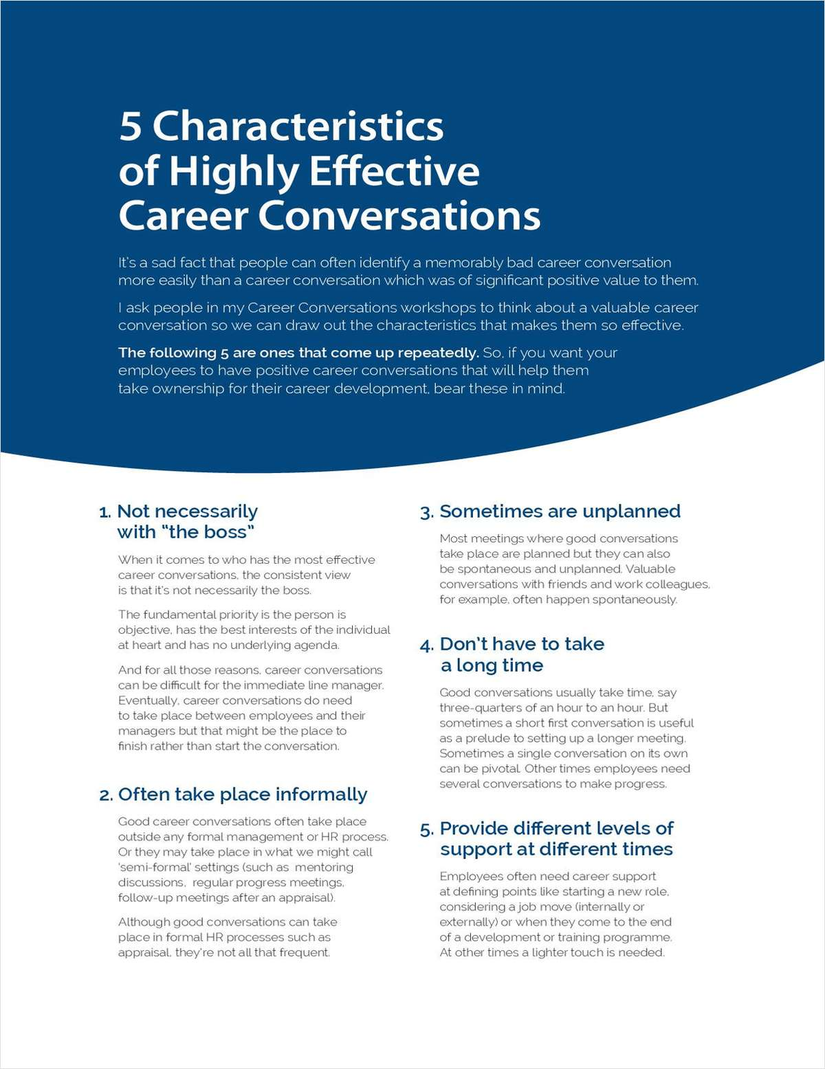 5 Characteristics of Highly Effective Career Conversations