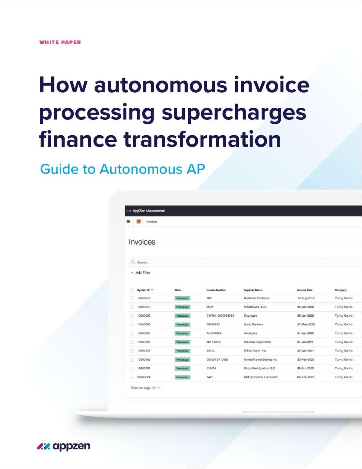How Autonomous Invoice Processing Supercharges Finance Transformation