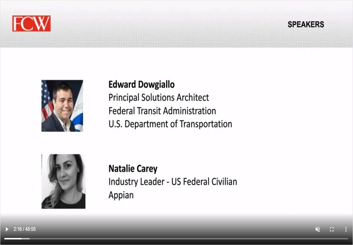 Low-Code and Intelligent Automation Strategy at Department of Transportation