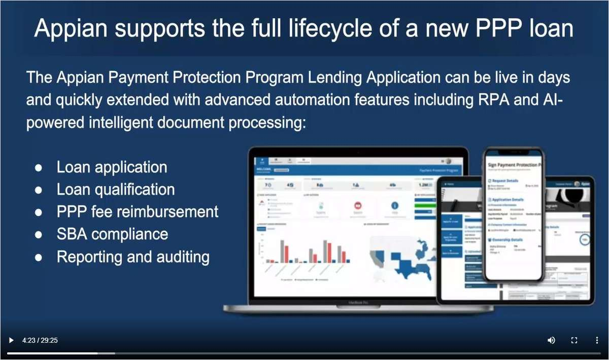 Supporting the Paycheck Protection Program with Appian