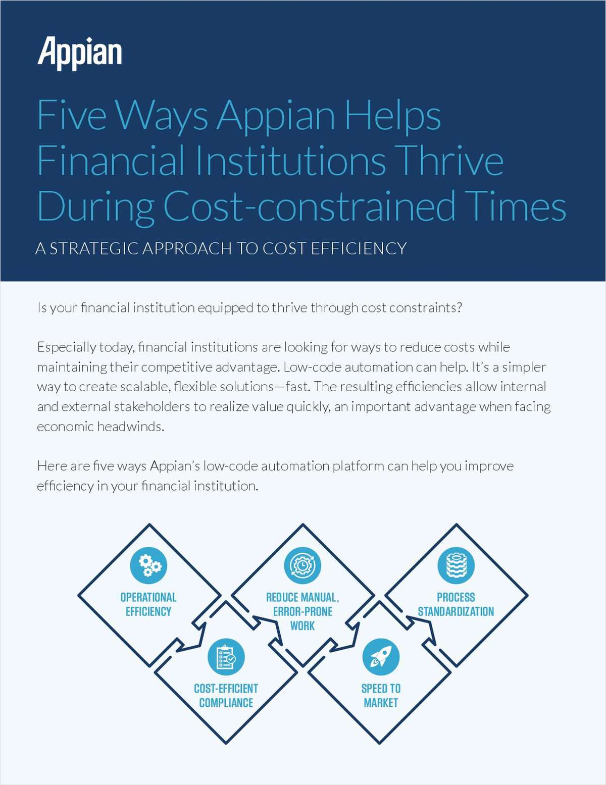 Five Ways Appian Helps Financial Institutions Thrive in Cost-Constrained Times