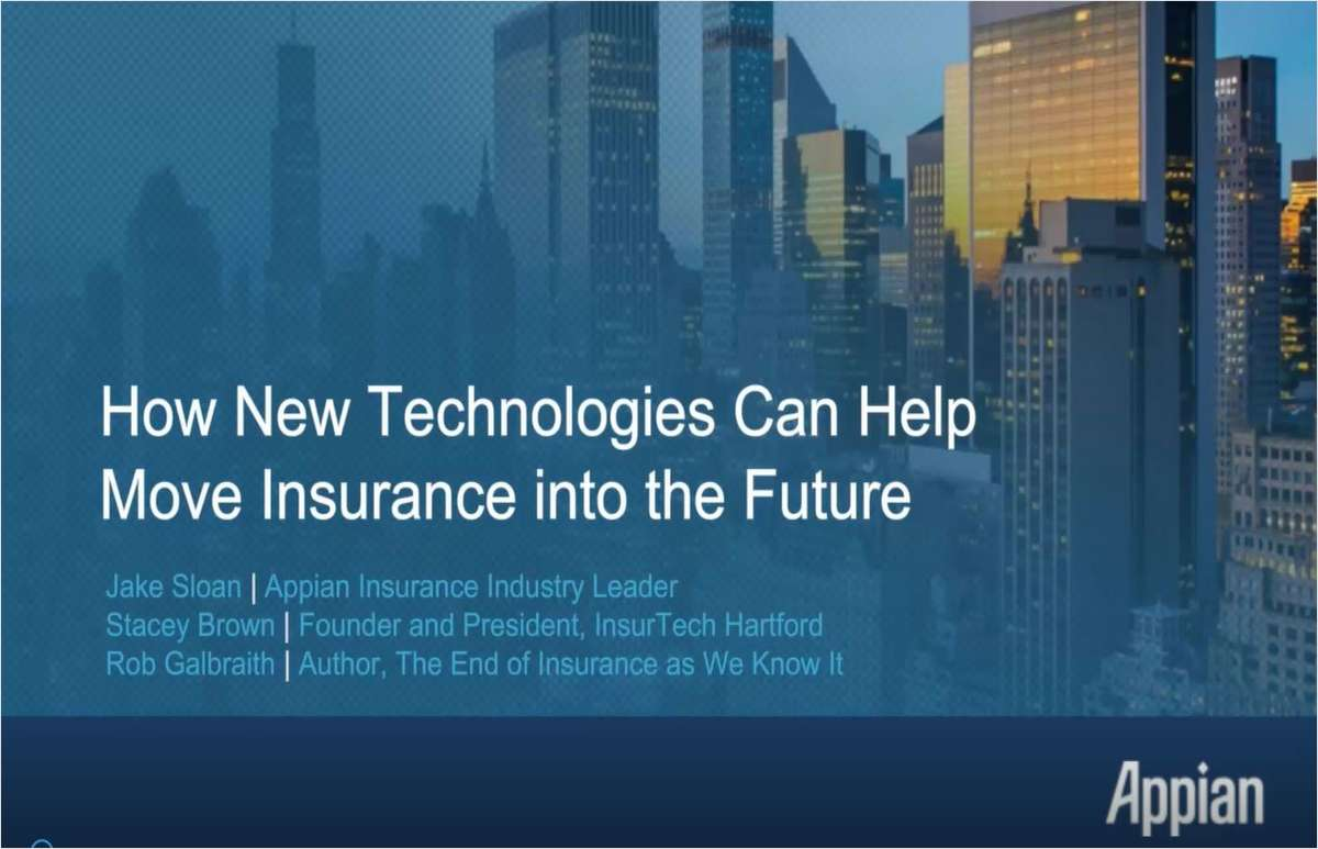 How New Technologies Can Help Move Insurance into the Future