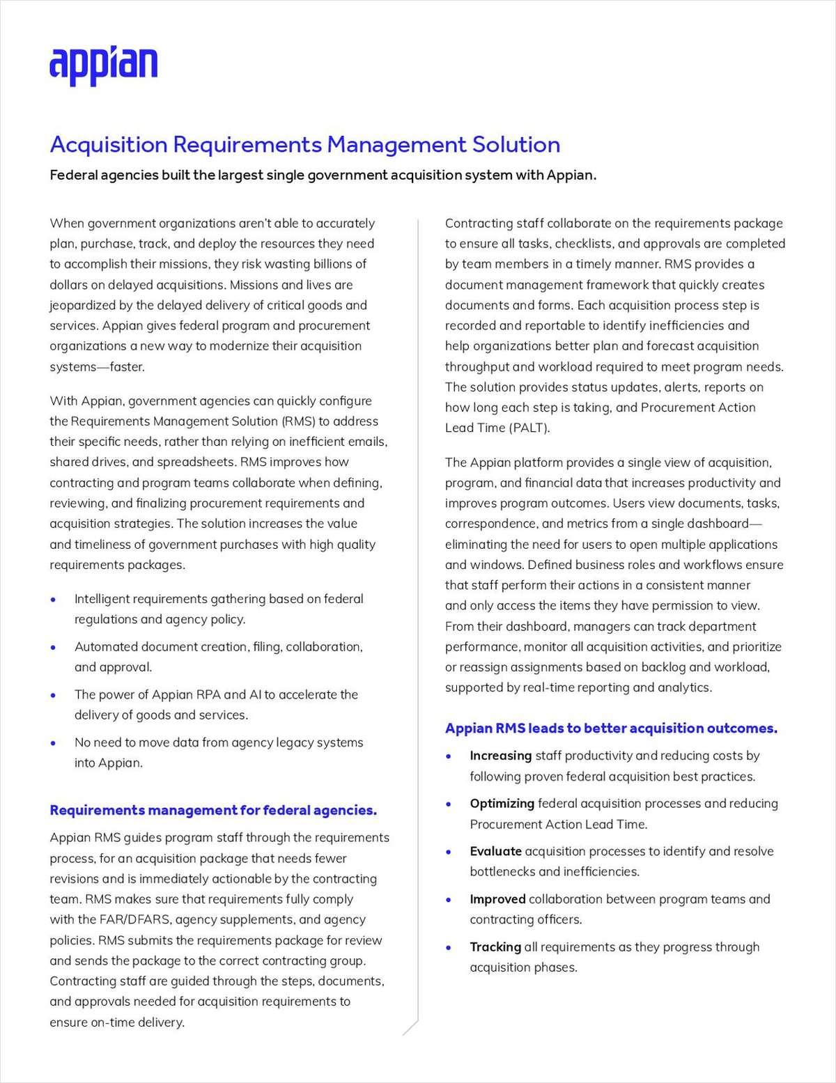 Acquisition Requirements Management Solution