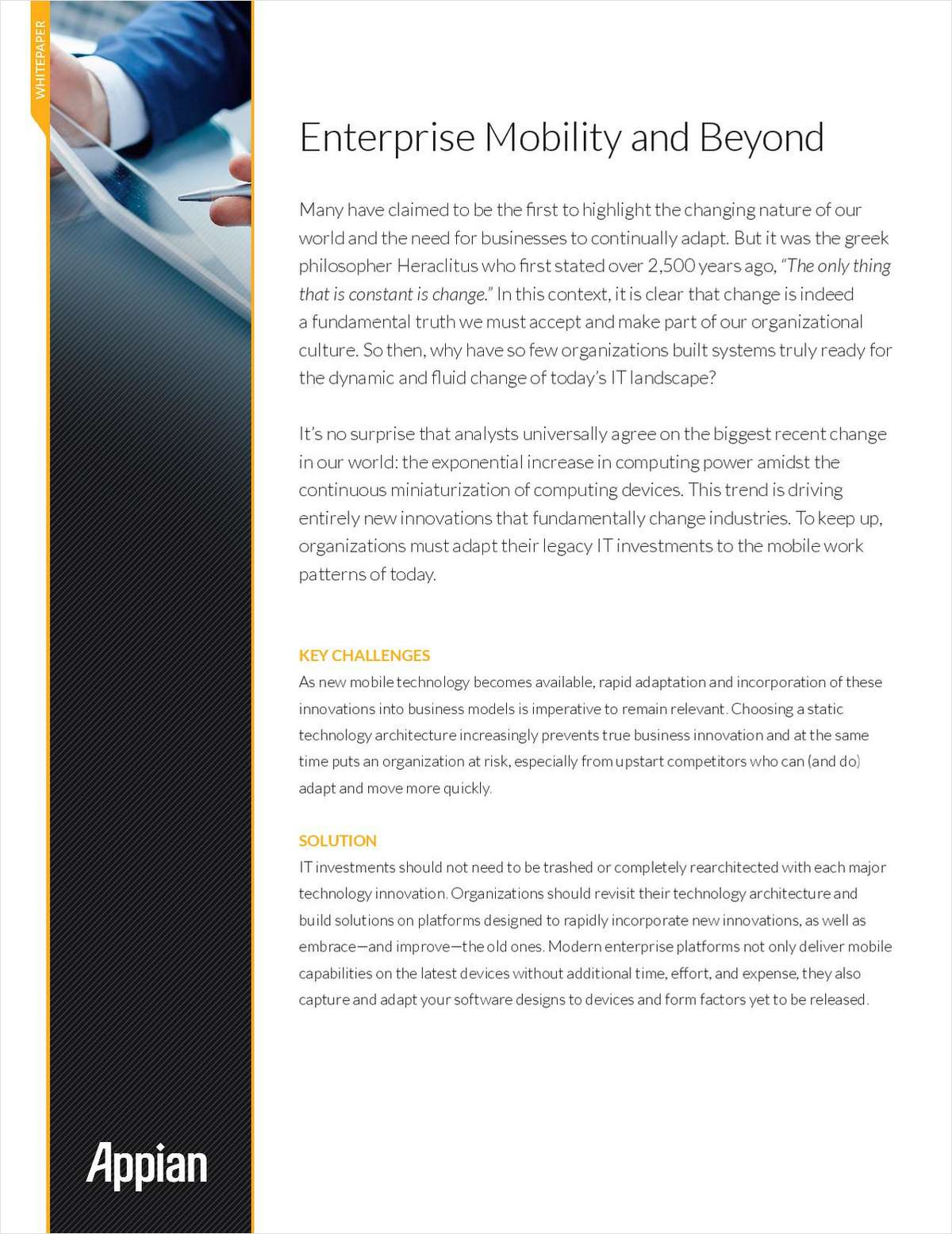 Enterprise Mobility and Beyond