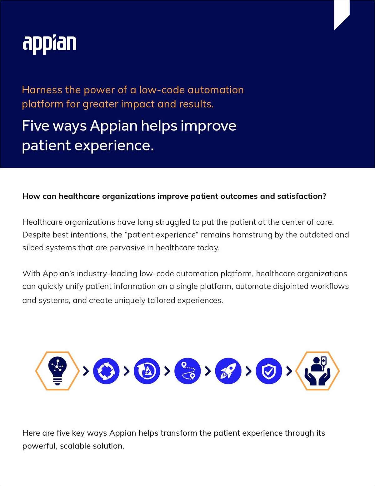Five ways Appian helps improve patient experience.