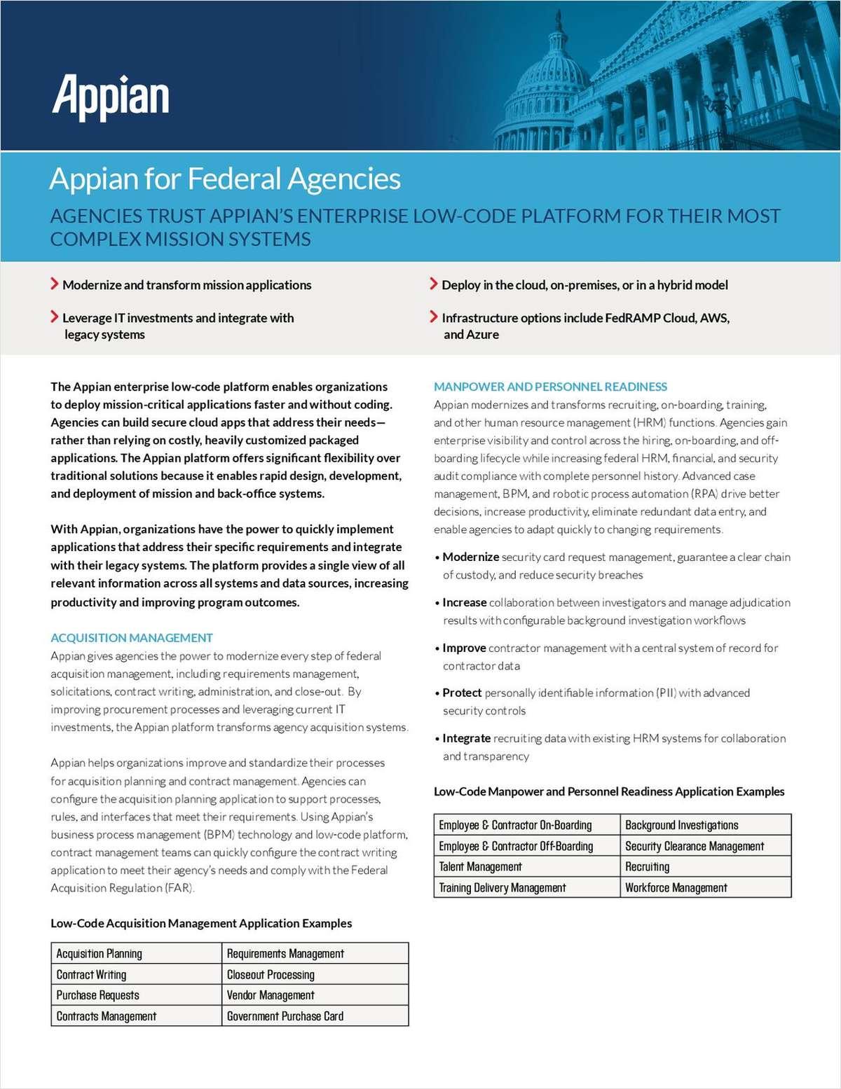 Appian for Federal Agencies