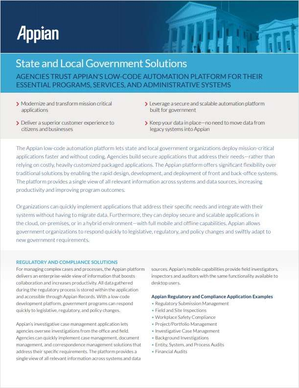 Appian State and Local Government Solutions