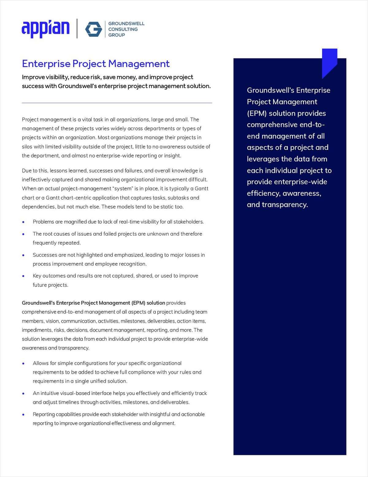 Enterprise Project Management Solution