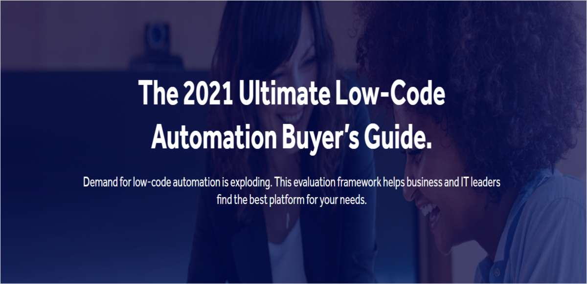 The 2021 Ultimate Low-Code Automation Buyer's Guide