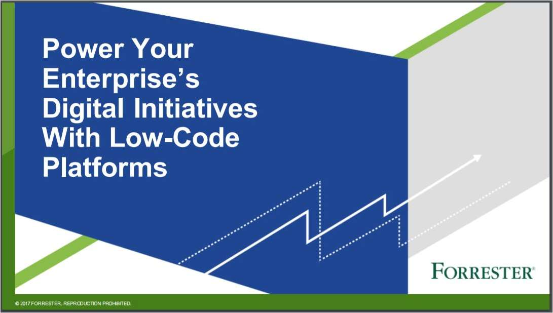 Power Your Enterprise's Digital Initiatives With Low-Code Platforms