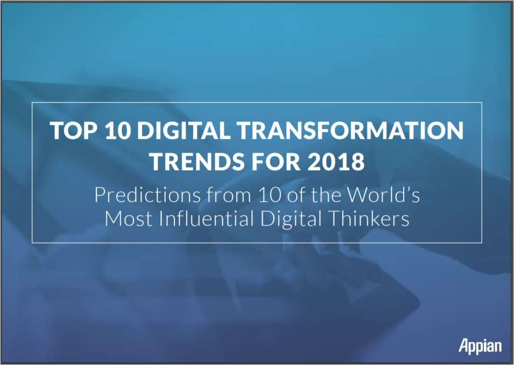 Top 10 Digital Transformation Trends for 2018