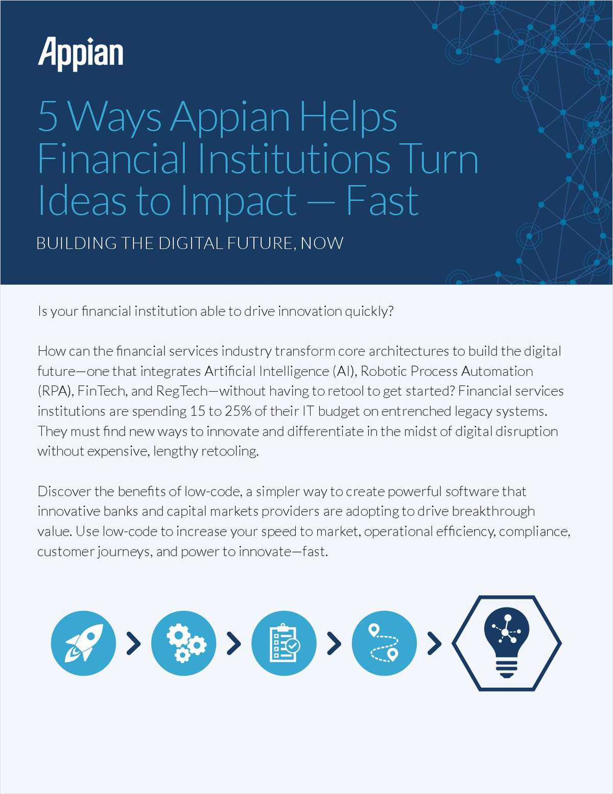 Five Ways Appian Helps Financial Institutions Turn Ideas to Impact -- Fast