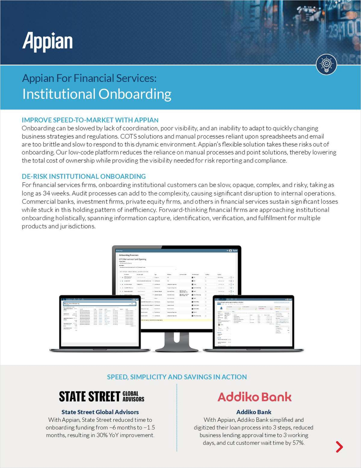 Appian for Financial Services: Institutional Onboarding