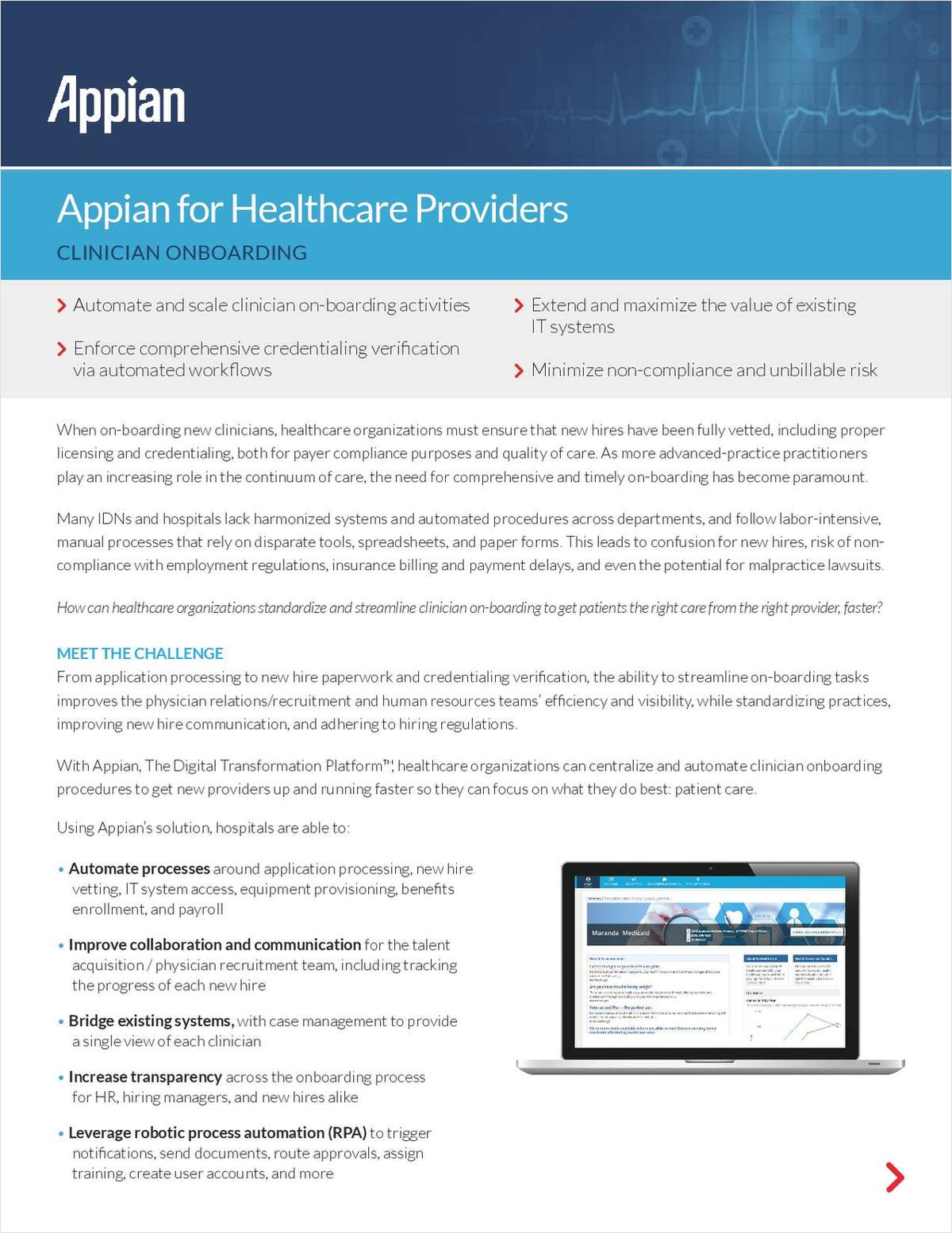 Appian for Healthcare Providers: Clinician Onboarding