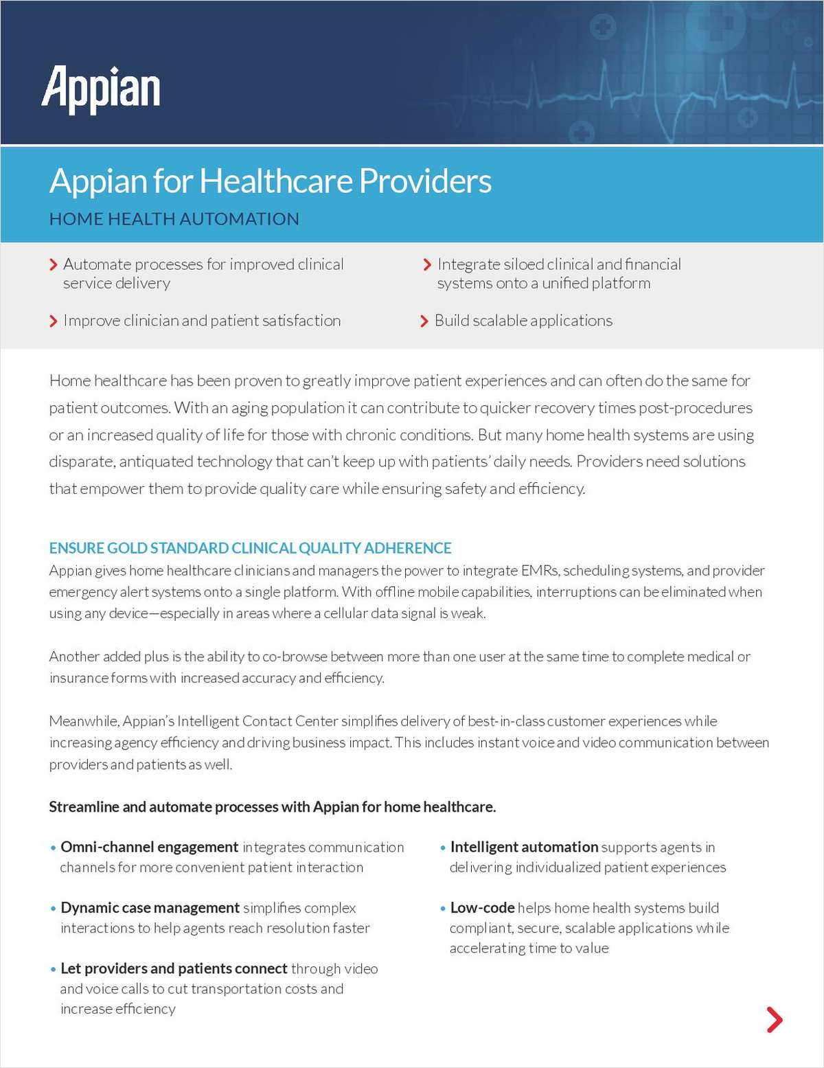 Appian for Healthcare Providers: Home Health Automation