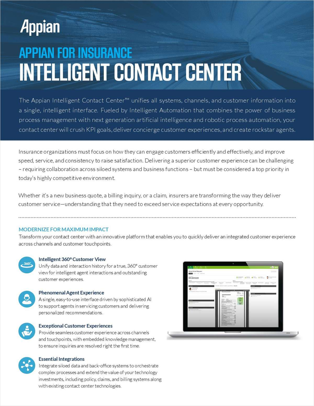 Appian for Insurance: Intelligent Contact Center