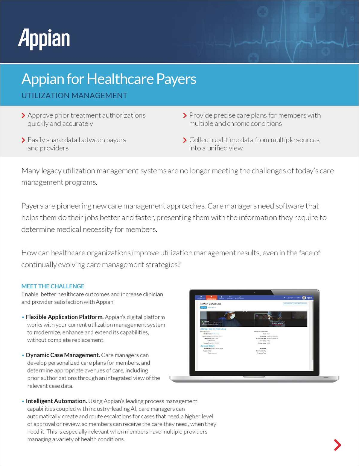 Appian for Healthcare Payers: Utilization Management