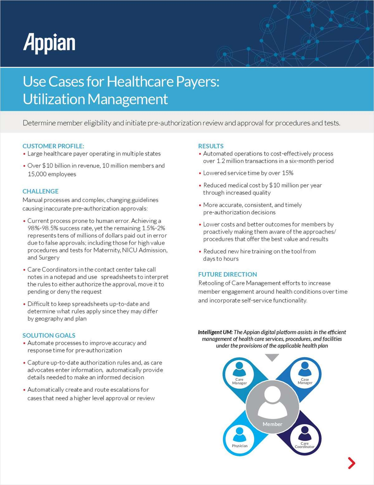Use Cases for Healthcare Payers: Utilization Management