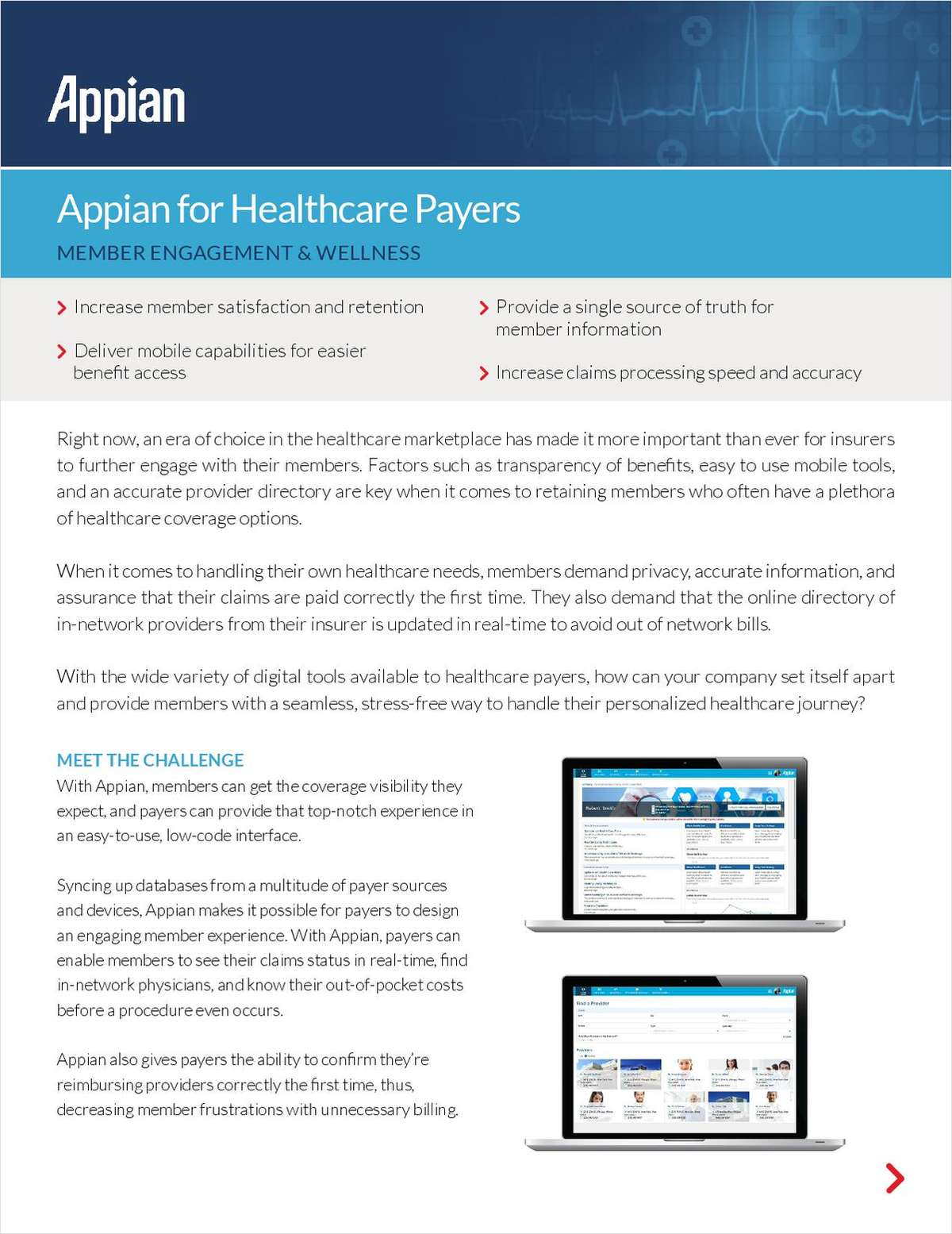Appian for Healthcare Payers: Member Engagement and Wellness