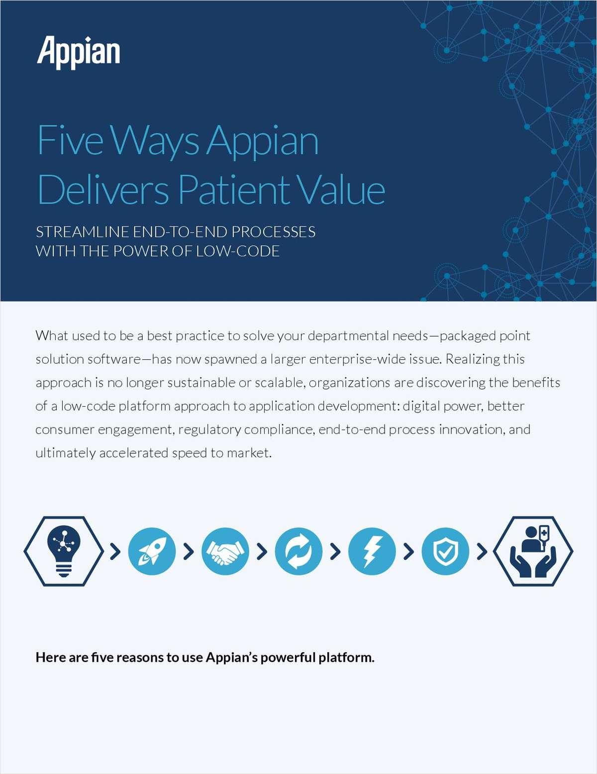 Five Ways Appian Delivers Patient Value