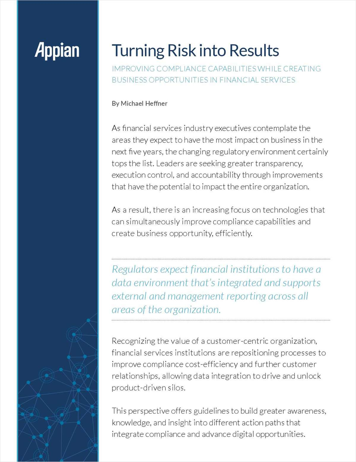 Turning Risk into Results: Improving Compliance Capabilities in Financial Services