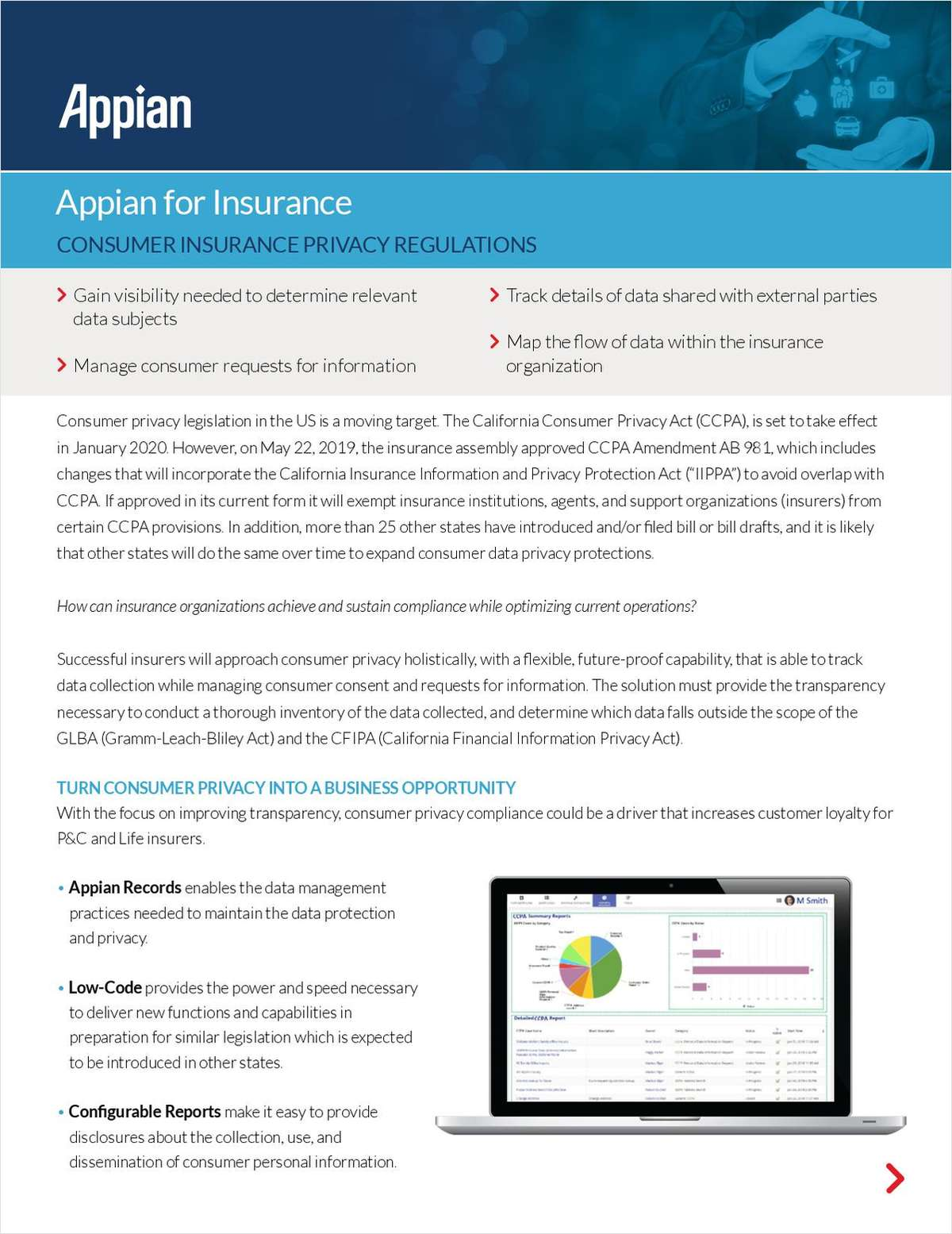 Appian for Insurance: Consumer Insurance Privacy