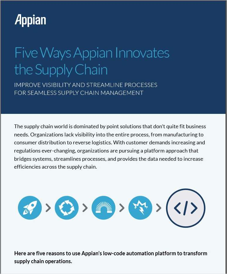 Five Ways Appian Innovates the Supply Chain