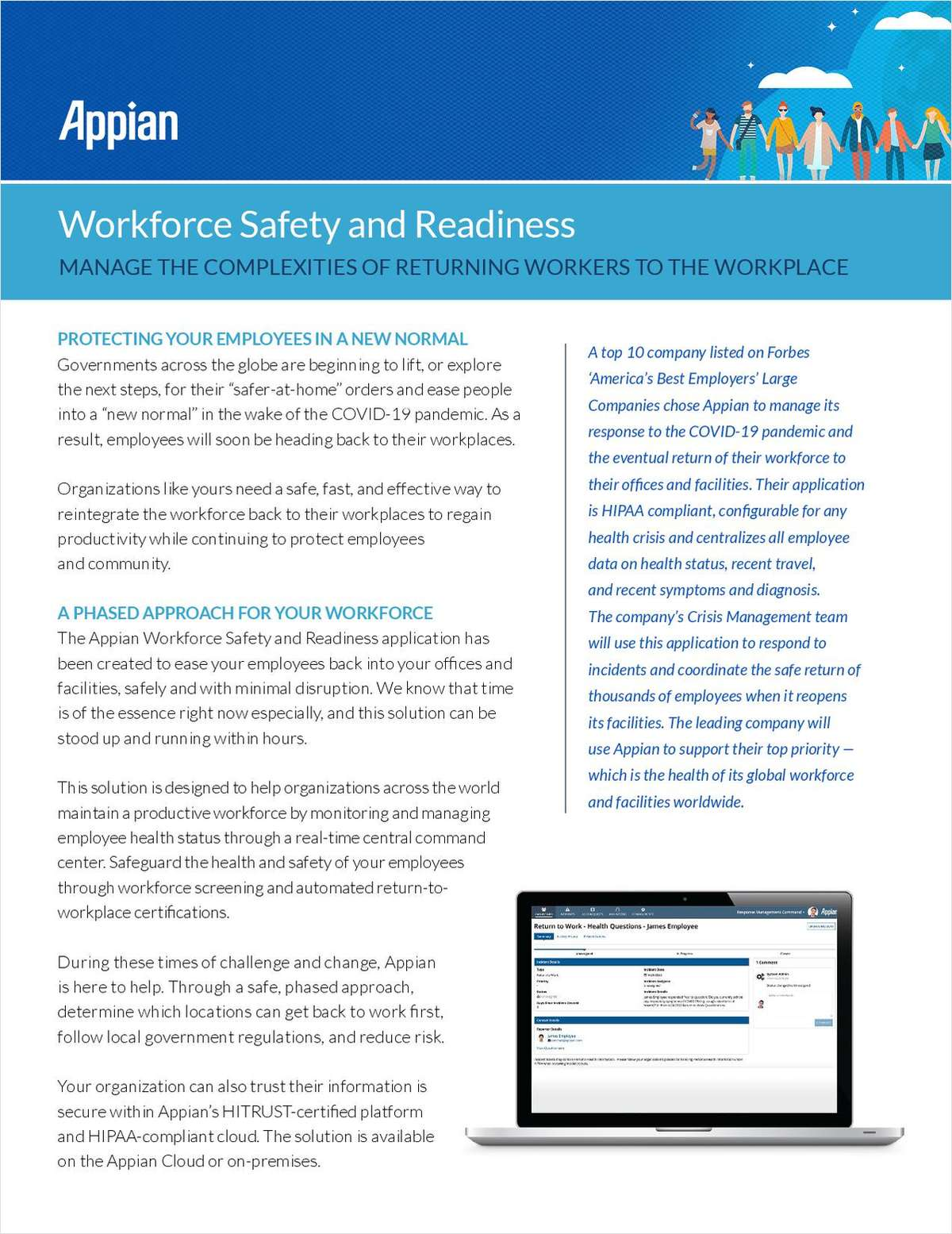 Workforce Safety and Readiness: Manage the Complexities of Returning Workers to the Workplace