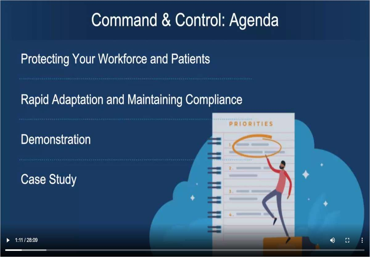 COVID-19 Command and Control: Patient and Workforce Tracker