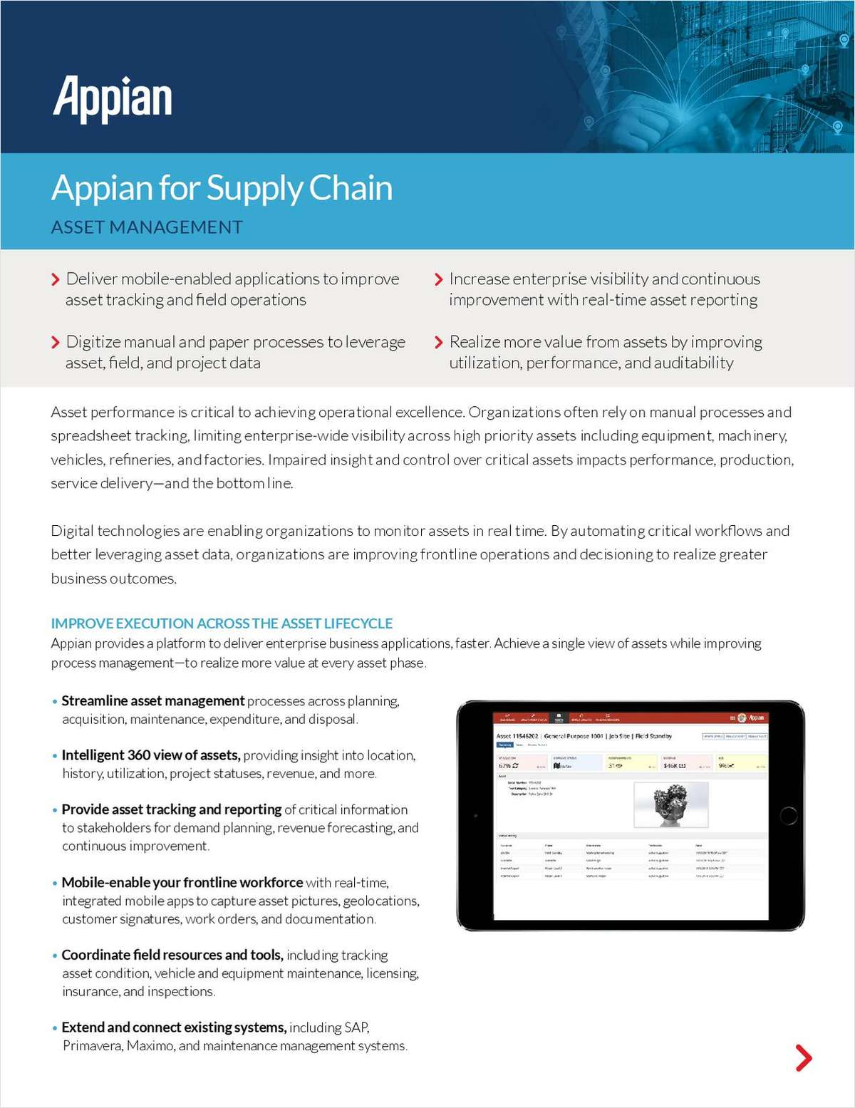 Appian for Supply Chain: Asset Management