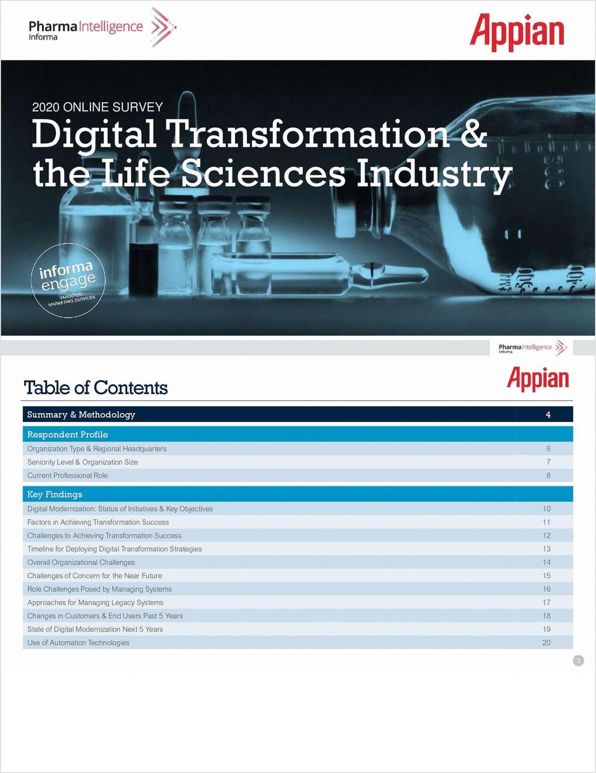 2020 Online Survey: Digital Transformation & the Life Sciences Industry