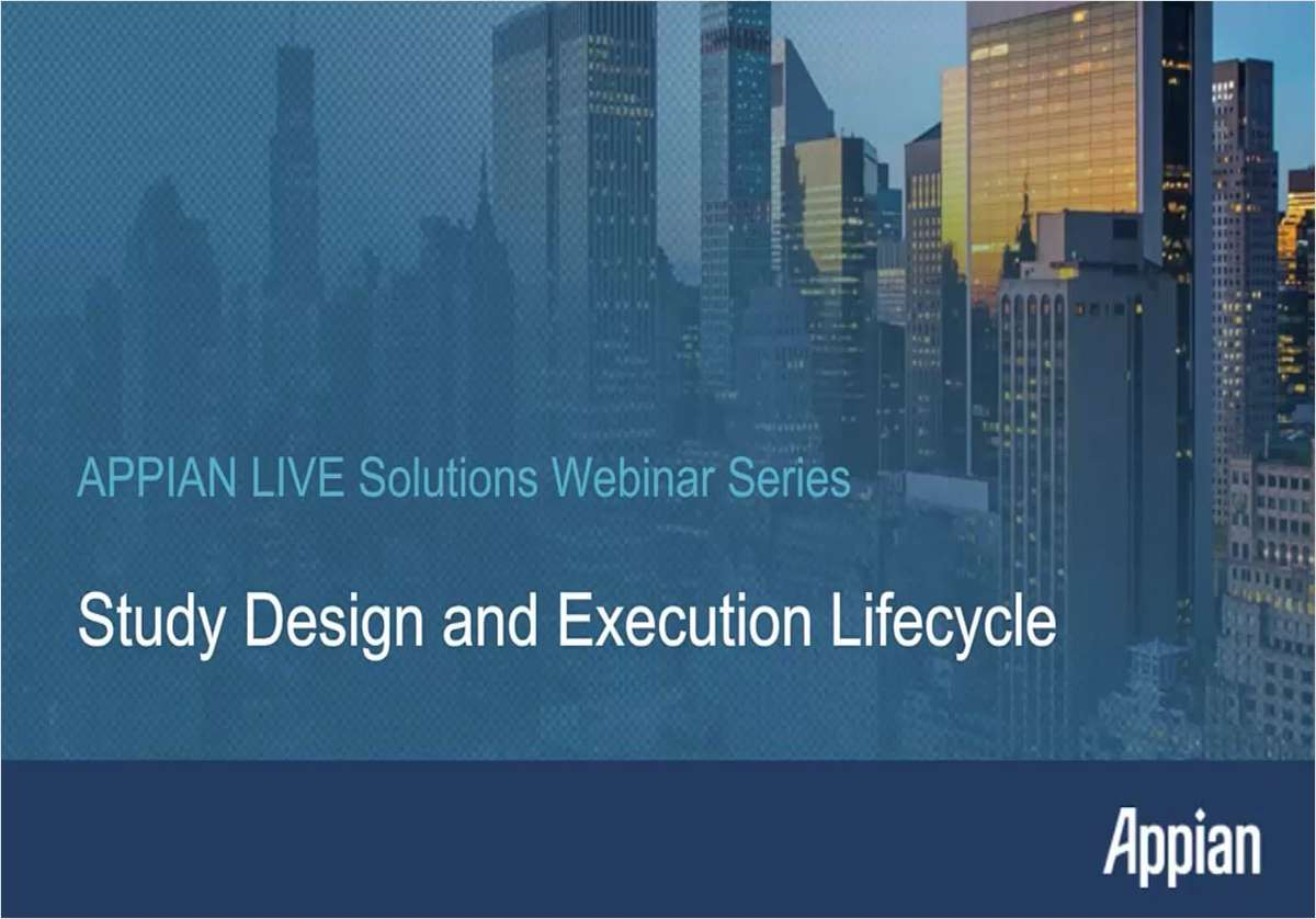 Study Design and Execution Lifecycle