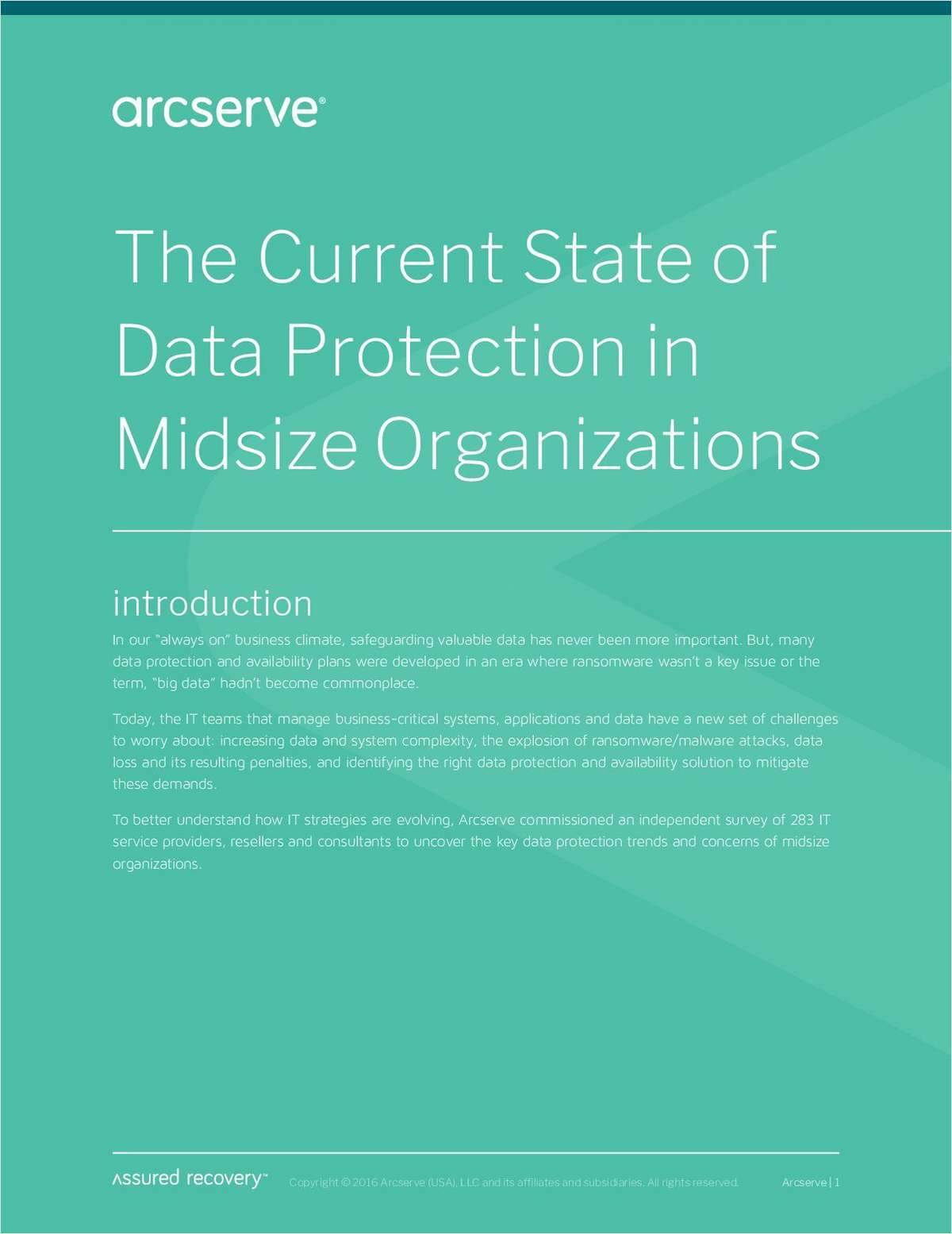 The Current State of Data Protection in Midsize Organizations