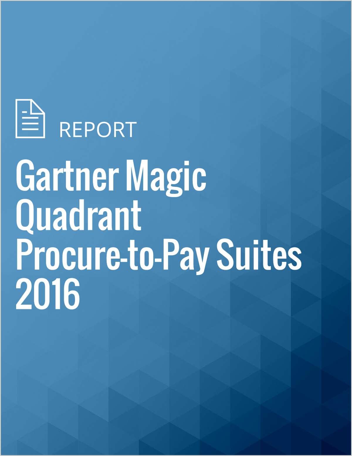 Gartner Magic Quadrant Procure-to-Pay Suites 2016