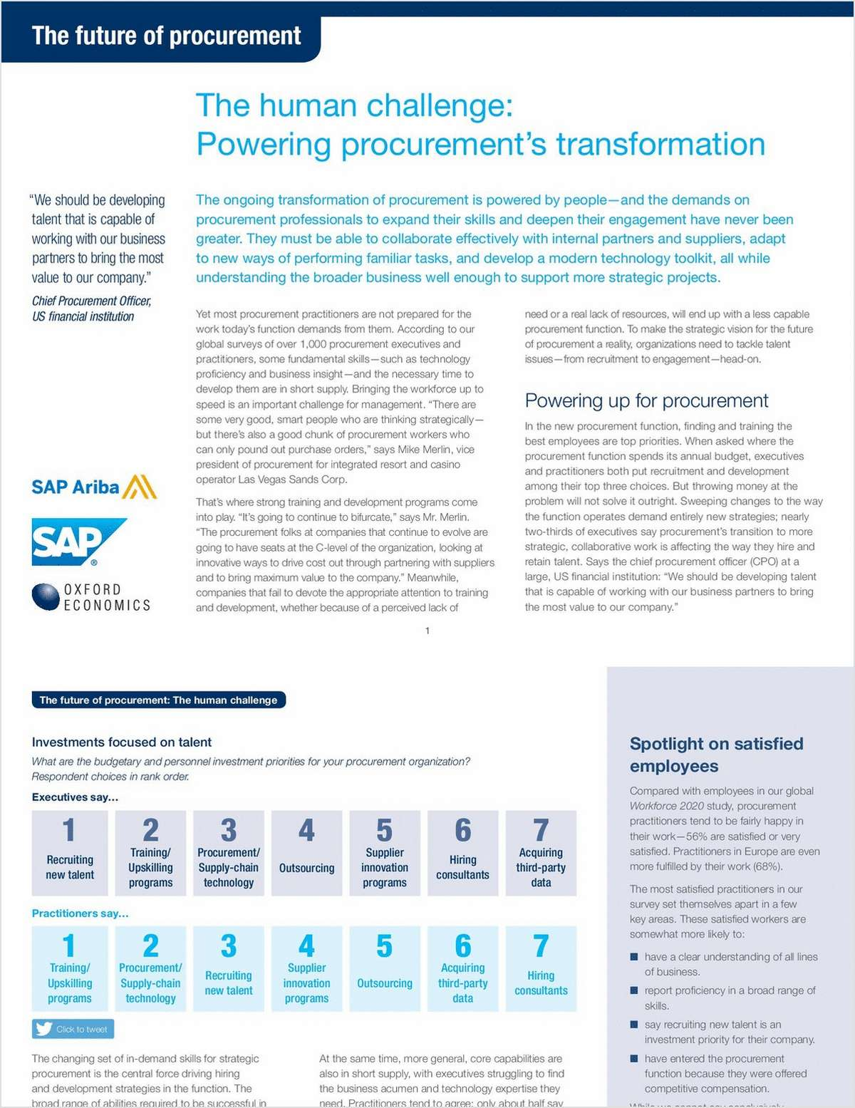 The Future of Procurement: The Human Challenge