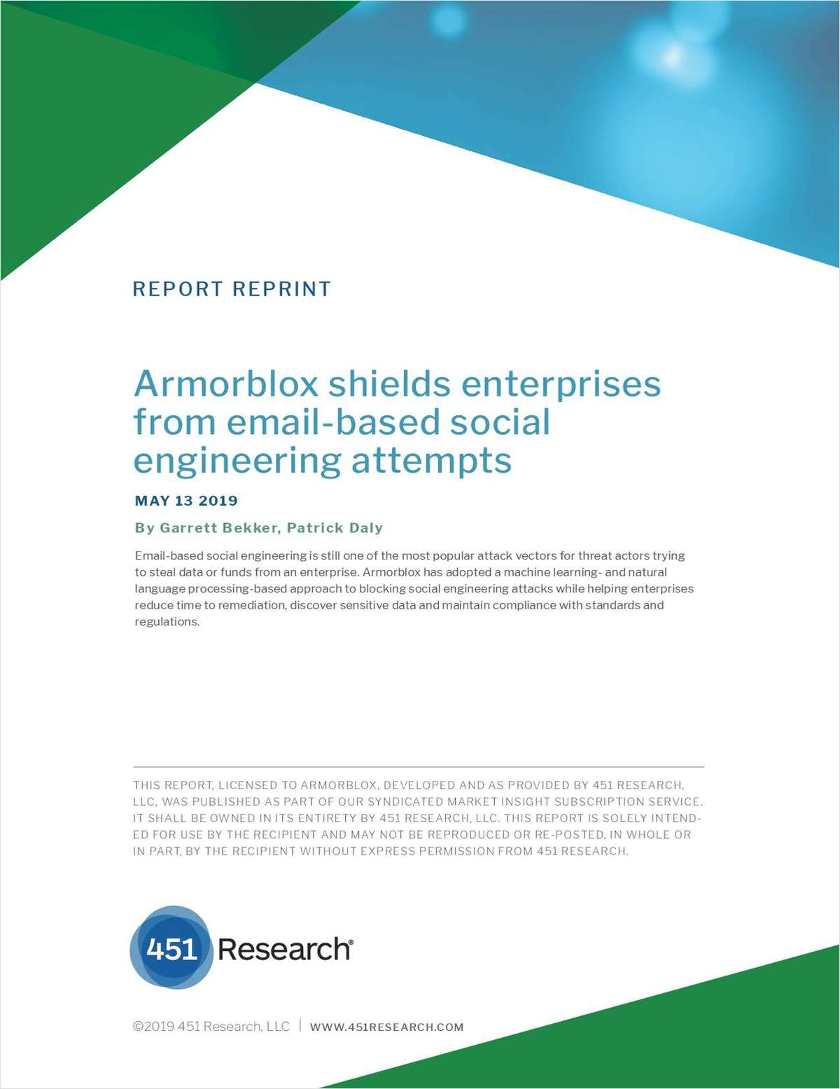 Armorblox Shields Enterprises from Email-based Social Engineering attempts