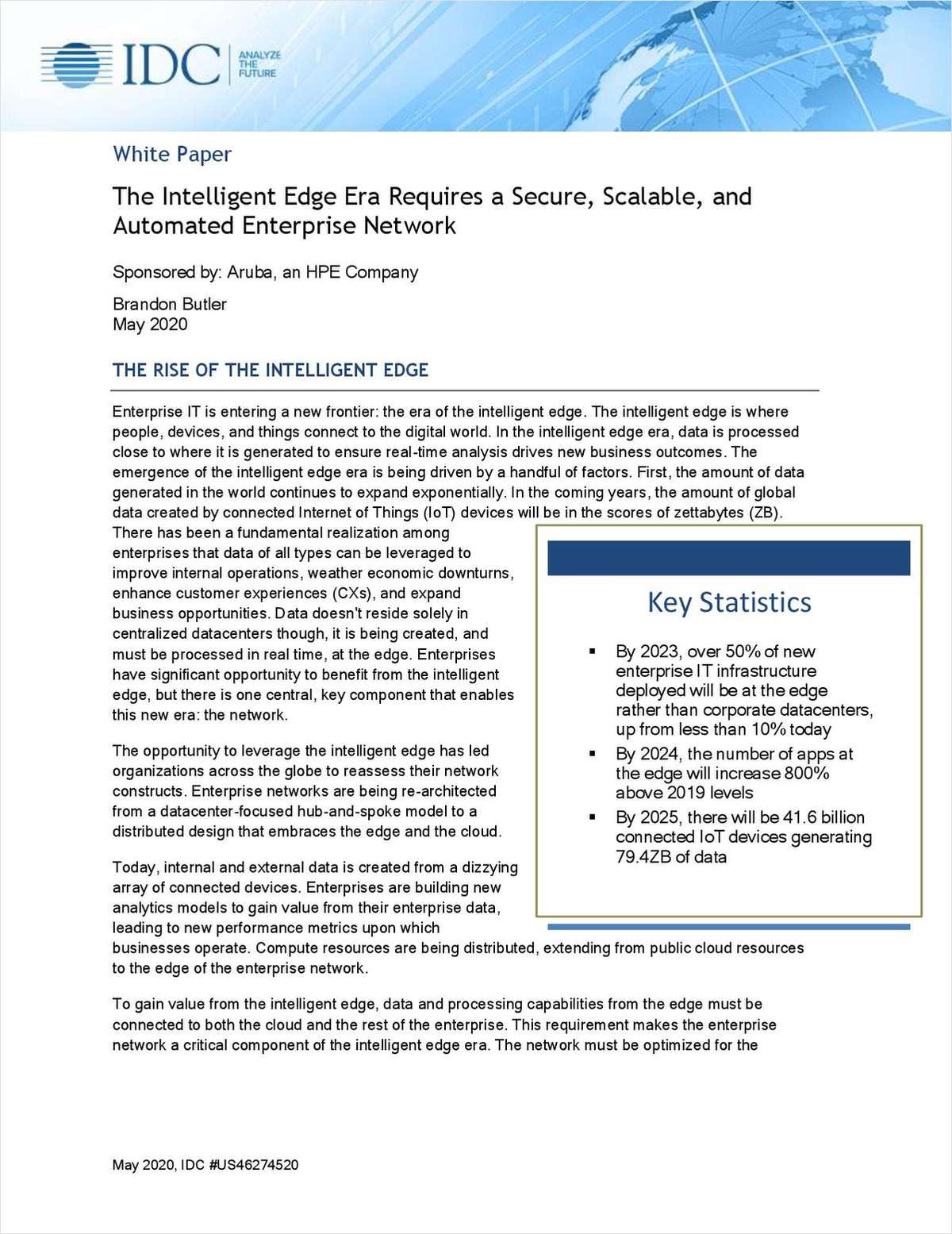 IDC Whitepaper: The Dawn of the Intelligent Edge Era